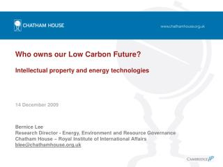 Who owns our Low Carbon Future