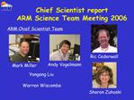 Chief Scientist report ARM Science Team Meeting 2006