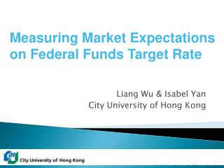 Liang Wu  Isabel Yan City University of Hong Kong
