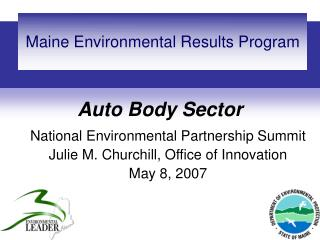 Maine Environmental Results Program