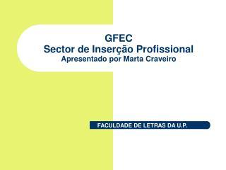 GFEC Sector de Inser  o Profissional Apresentado por Marta Craveiro