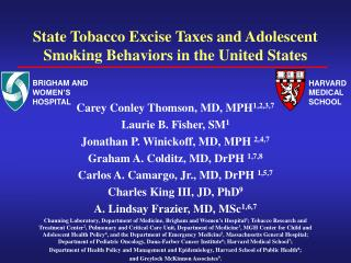 State Tobacco Excise Taxes and Adolescent Smoking Behaviors in the United States