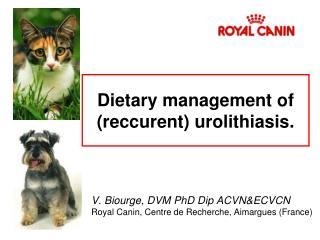 Dietary management of reccurent urolithiasis.