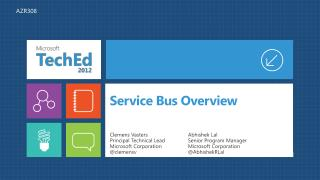 Service Bus Overview