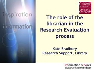 The role of the librarian in the Research Evaluation process