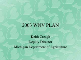 2003 WNV PLAN