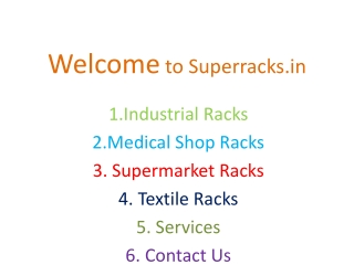 Super Market Shopping Trolly india, Super Market Racks