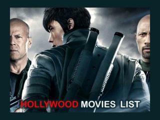 List of Hollywood Movies