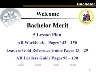 5 Lesson Plan AR Workbook   Pages 143   150 Leaders Gold Reference Guide Pages 13   29 AR Leaders Guide Pages 95   120