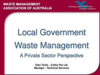 Local Government Waste Management A Private Sector Perspective