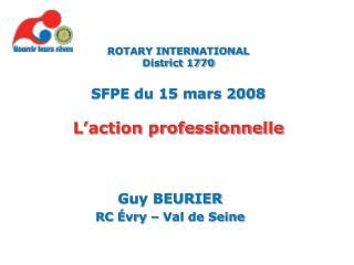 Guy BEURIER RC  vry   Val de Seine