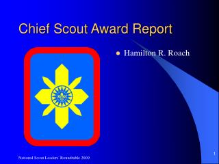 Chief Scout Award Report