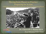 Moving from Theory to Practice:  Preparing for Action Utilizing Critical Masses as an Entry Point for Promoting Peace