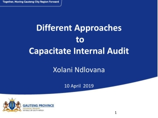 Internal Audit  Partnering with Management