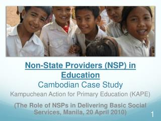 Non-State Providers NSP in Education