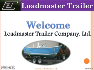Loadmaster Boat Trailers For Sale
