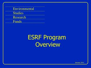 Environmental Studies Research Funds