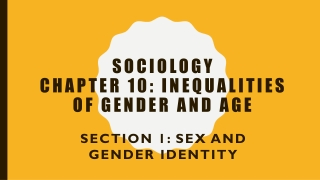 Socialization  Gender Differences