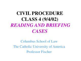 CIVIL PROCEDURE  CLASS 4 9