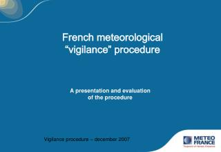 French meteorological  vigilance  procedure