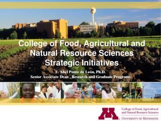 College of Food, Agricultural and Natural Resource Sciences Strategic Initiatives
