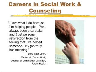 Careers in Social Work  Counseling