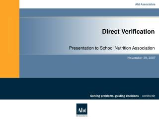 Direct Verification