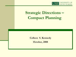 Strategic Directions   Compact Planning