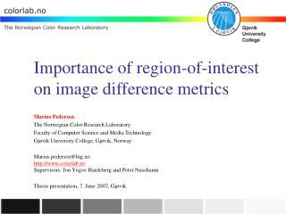 Importance of region-of-interest on image difference metrics