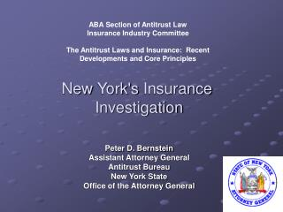 New Yorks Insurance  Investigation