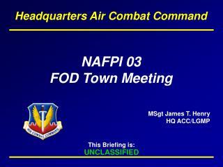 NAFPI 03 FOD Town Meeting
