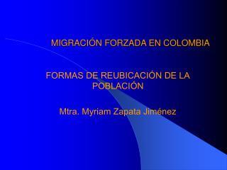 MIGRACI N FORZADA EN COLOMBIA