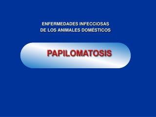 ENFERMEDADES INFECCIOSAS DE LOS ANIMALES DOM STICOS