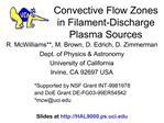 Convective Flow Zones in Filament-Discharge Plasma Sources