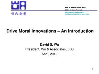 Drive Moral Innovations   An Introduction