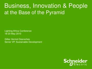 Business, Innovation  People at the Base of the Pyramid