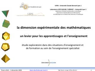 La dimension exp rimentale des math matiques  un levier pour les apprentissages et lenseignement