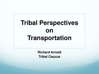 Policy and Politics in Transportation