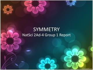 NATSCI - PH Tribal Symmetry Patterns (2AD4) ©JOVIEDAYON
