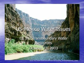 US-Mexico Water Issues