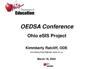 OEDSA Conference  Ohio eSIS Project