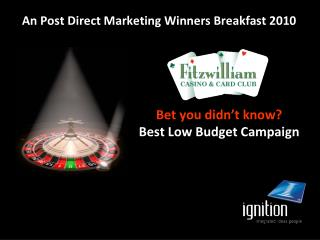 An Post Direct Marketing Winners Breakfast 2010