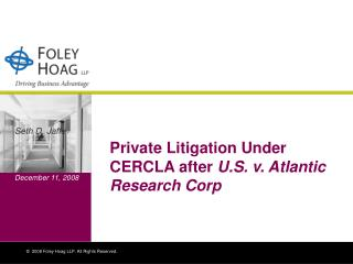 Private Litigation Under CERCLA after U.S. v. Atlantic Research Corp