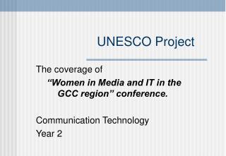 UNESCO Project