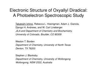 Electronic Structure of Oxyallyl Diradical: A Photoelectron Spectroscopic Study