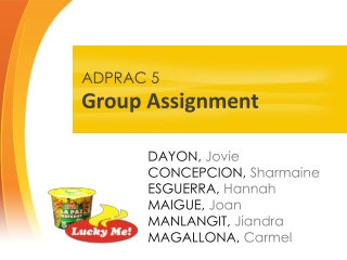 ADPRAC5 - Team Lucky Me! (3AD4) ©JOVIEDAYON