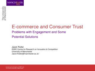 E-commerce and Consumer Trust