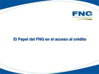 El Papel del FNG en el acceso al cr dito