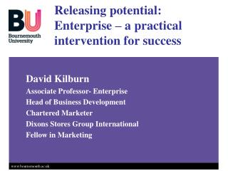 Releasing potential: Enterprise   a practical intervention for success