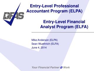 Entry-Level Professional Accountant Program ELPA